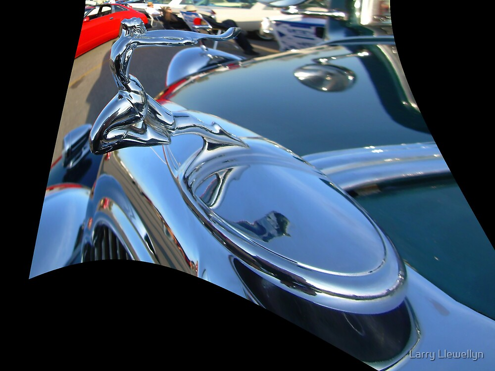 My Attempt at Photo Art: the Buick Woman by Larry Llewellyn
