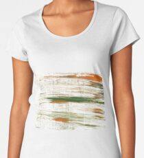 Lotion abstract watercolor background Women's Premium T-Shirt