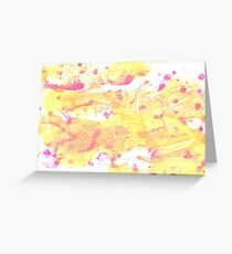 Very pale yellow abstract watercolor background Greeting Card