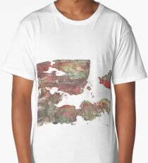 Grullo abstract watercolor background Long T-Shirt