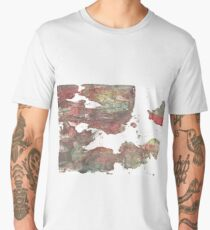 Grullo abstract watercolor background Men's Premium T-Shirt
