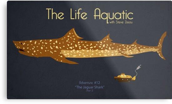 """the life aquatic - jaguar shark"""" metal printskodi sershon"""