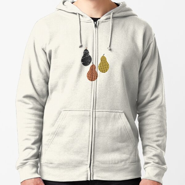 Scandinavian Pears Zipped Hoodie