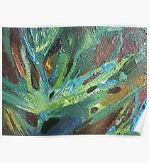 Abstraction palm summer green tringle Poster