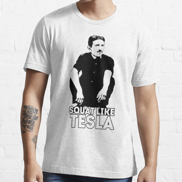 Tesla Squating Essential T-Shirt