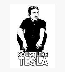 Tesla Squating Photographic Print
