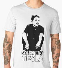 Tesla Squating Men's Premium T-Shirt