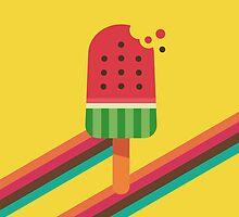Fresh Watermelon Ice Pop by Dellan