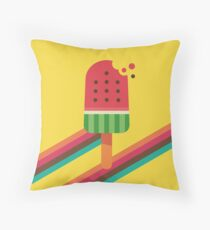 Fresh Watermelon Ice Pop Throw Pillow