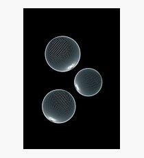 Geometric Neon Space Bubbles Photographic Print