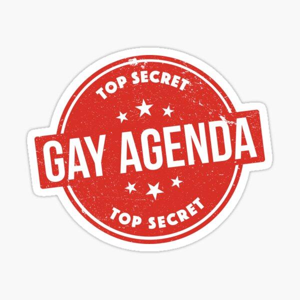Gay Agenda Sticker
