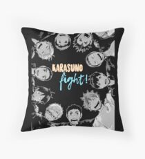 Karasuno, Fight! Haikyuu!! Throw Pillow