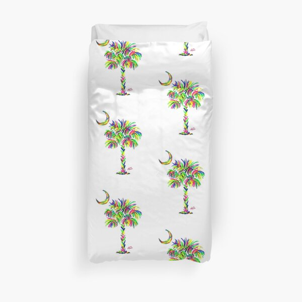 South Carolina is Simply Amazing Palm Tree Duvet Cover