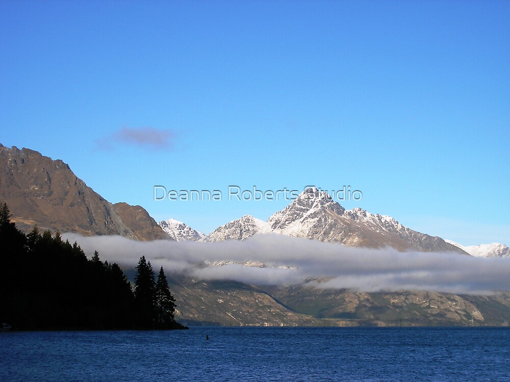 Land of the Long White Cloud - Lake Wakatipu, Queenstown, New Zealand by Deanna Roberts Think in Pictures