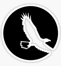 Eagle moon Sticker