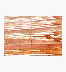 Antique brass abstract watercolor background Photographic Print