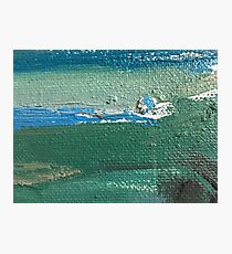 Abstraction series 3 sea horizon life sky and quiet oil on canvas Photographic Print