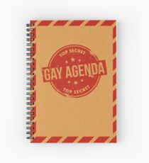 Gay Agenda Spiral Notebook