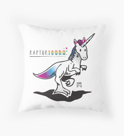 RAPTORICORN™ Throw Pillow