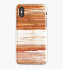 Ruddy brown abstract watercolor background iPhone Case