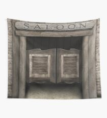Wild West Cowboy Saloon Wall Tapestry