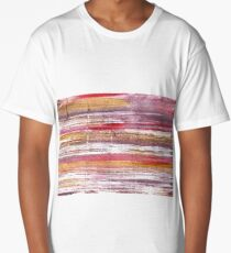Lavender blush abstract watercolor background Long T-Shirt