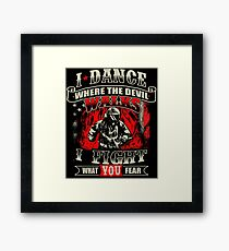 Firefighter Fights For What You Fear T-Shirt Framed Print
