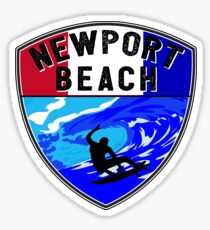 NEWPORT BEACH California Surfer Surfing Surfboard Ocean Beach Vacation 2 Sticker