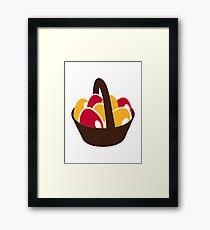 Easter eggs basket Framed Print