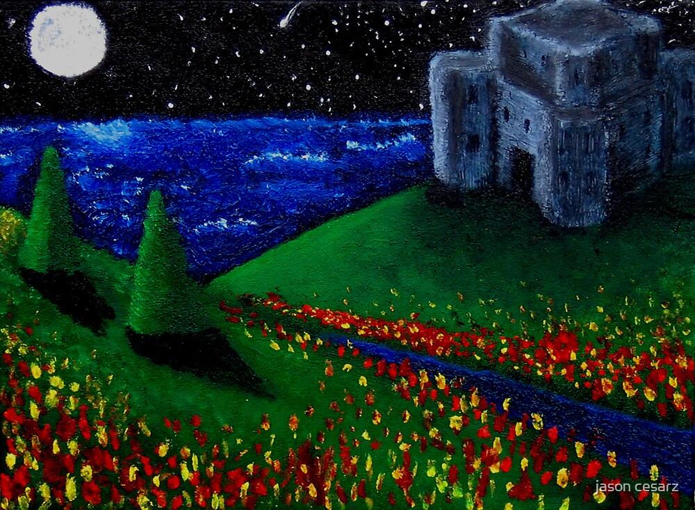 Full Moon Over Stromgarde Pass by jason cesarz