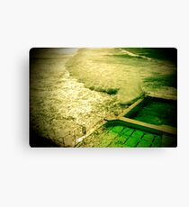 rock pool and wave Canvas Print