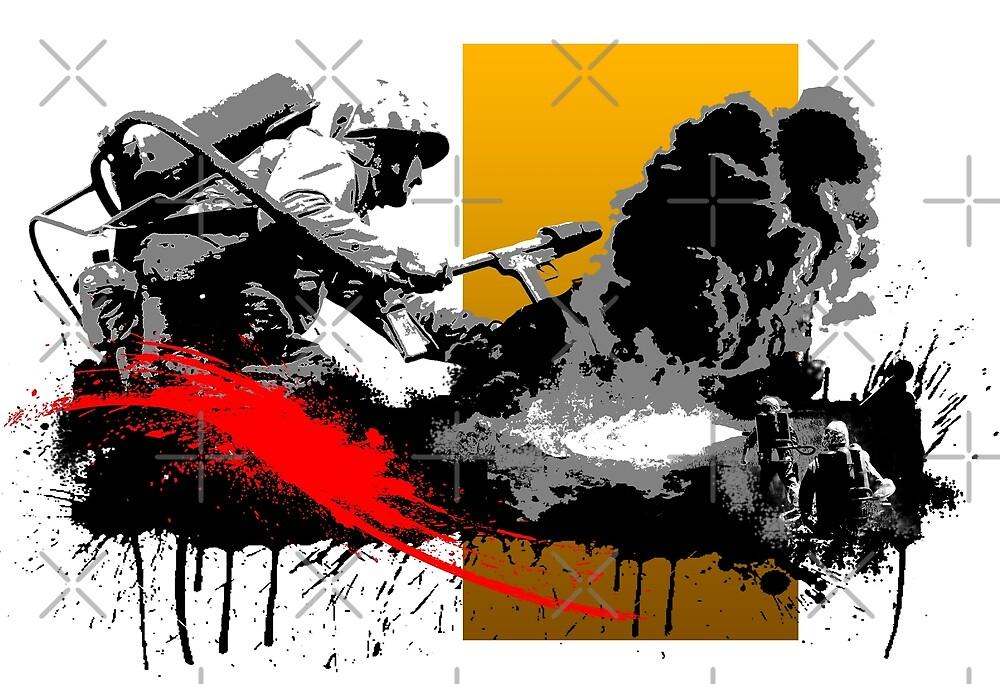 Zippo Man (Flamethrower) by Josh Edgar