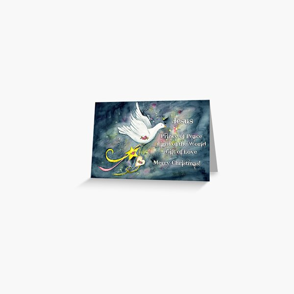Christmas Dove Greeting Card