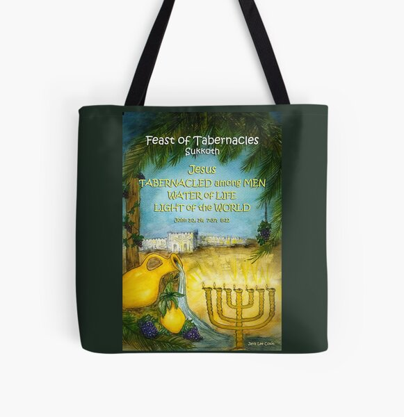 Jesus in The Feast of Tabernacles All Over Print Tote Bag