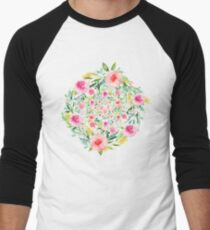 Bouquet OF flowers PINK & YELLOW - PAINTED - watercolor T-Shirt