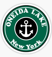 ONEIDA LAKE NEW YORK BASS FISHING FISH LARGEMOUTH SMALLMOUTH SYRACUSE FINGER LAKES Sticker