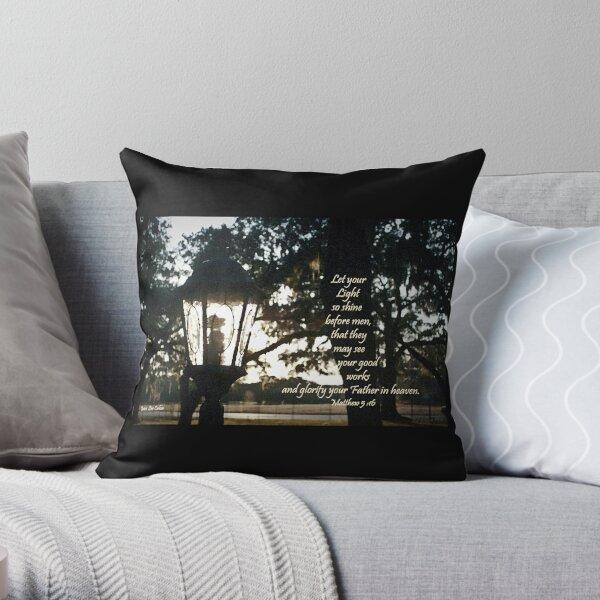 House Lantern- Matthew 5:16 Throw Pillow