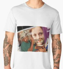 Playing His Trumpet As A Bus Goes By Men's Premium T-Shirt