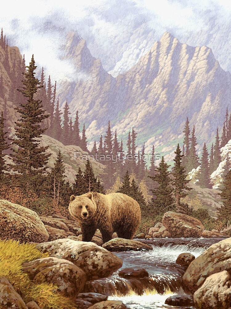 Grizzly Bear Landscape by FantasyDesigns