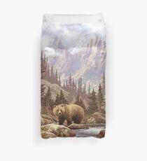 Grizzlybär Landschaft Bettbezug