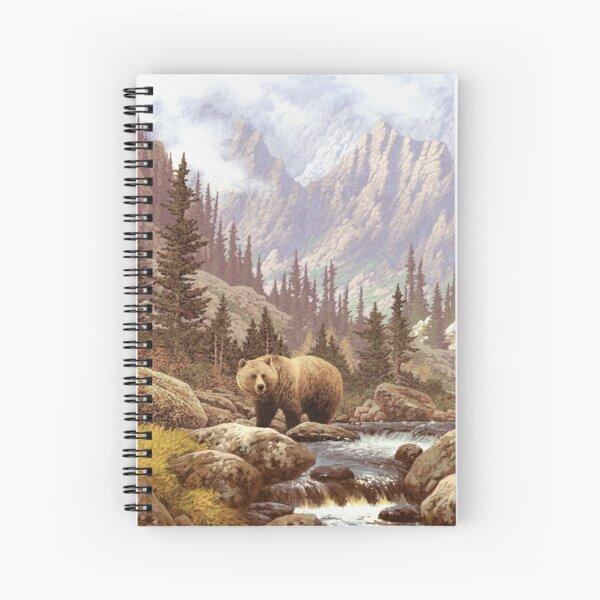 Grizzly Bear Landscape Spiral Notebook