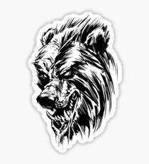Black Werebear Sticker