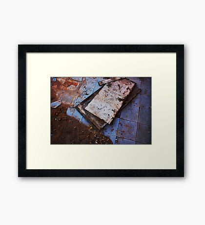 Dirt + Linoleum Framed Print