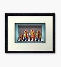 Hot Dogs !  Framed Print