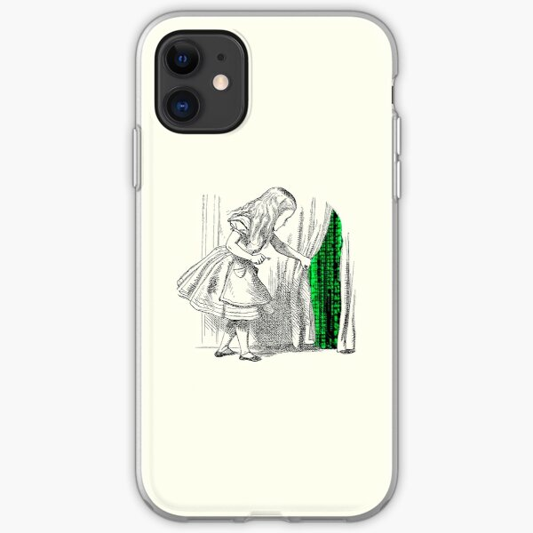 Follow the white rabbit iPhone Soft Case