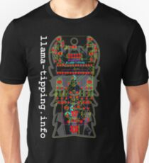 llama-tipping AVR Badge - Dark Unisex T-Shirt