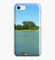 Washington Monument With Water And Ducks iPhone Case/Skin