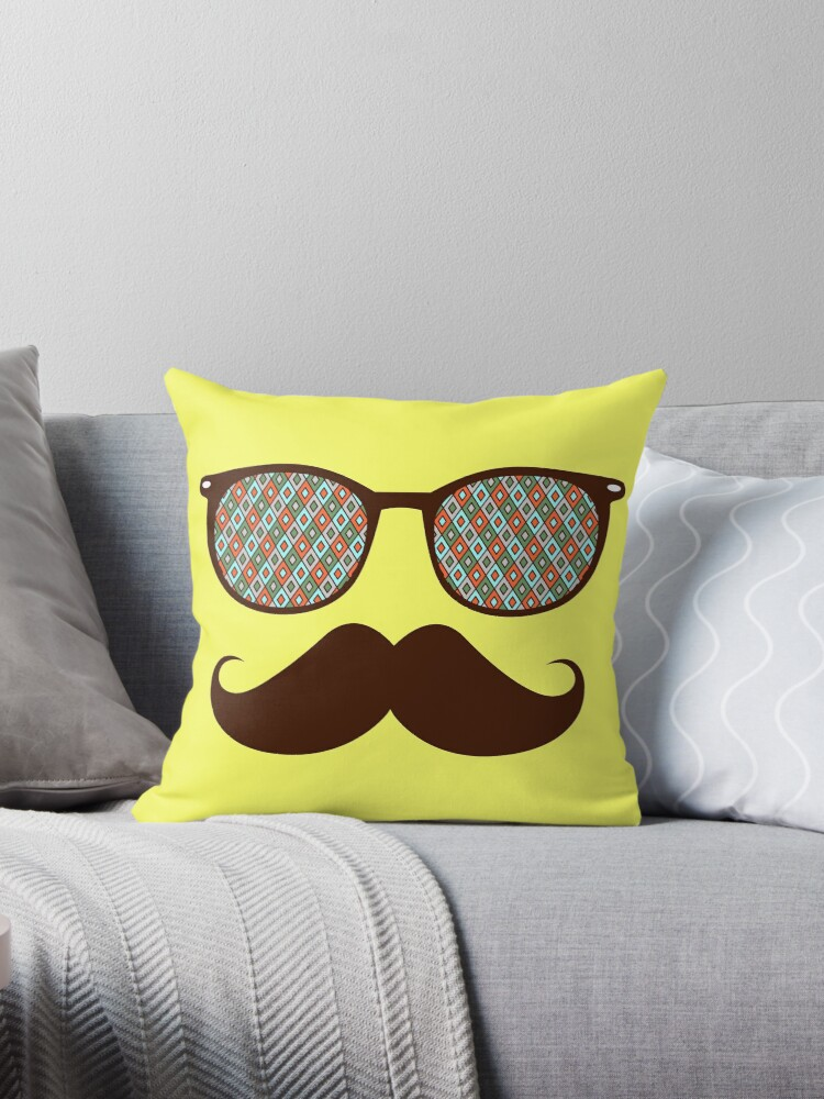 Hipster Glasses And Mustache\