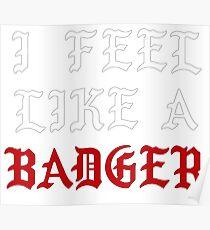 I Feel Like A Badger Poster