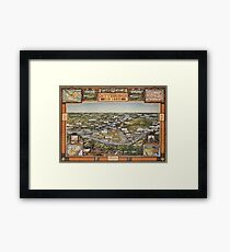 Pittsburgh in 1889 Framed Print